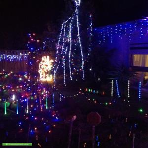Christmas Light display at 220 Centre Dandenong Road, Dingley Village