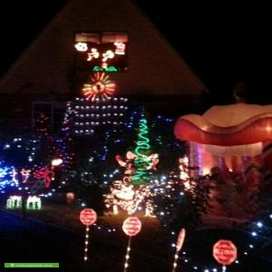 Christmas Light display at 9 Fiona Court, Mount Martha