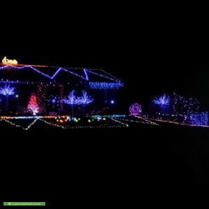 Christmas Light display at 14 Deighton Drive, Rosebud
