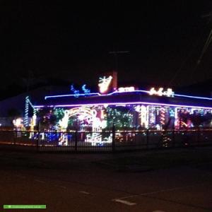 Christmas Light display at 436 South Road, Moorabbin
