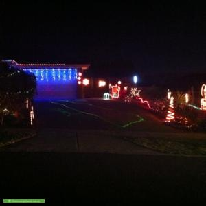 Christmas Light display at 75 Brookwood Avenue, Doreen