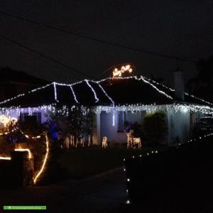 Christmas Light display at 9 Surrey Street, Bentleigh East
