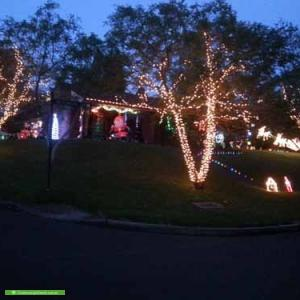 Christmas Light display at 77 Westmore Drive, West Pennant Hills