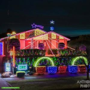 Christmas Light display at 24 Allumba Drive, St Helena