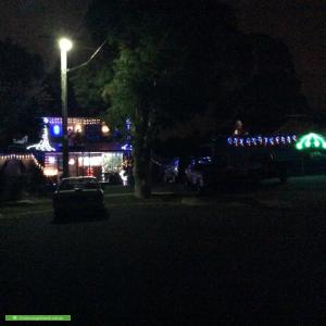Christmas Light display at 7 Hurst Court, Epping