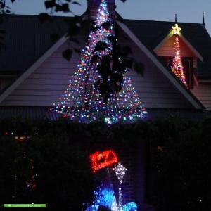 Christmas Light display at 64-66 Claremont St, Mt Eliza
