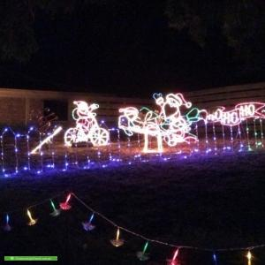 Christmas Light display at 1 Sherwood Avenue, Rosebud