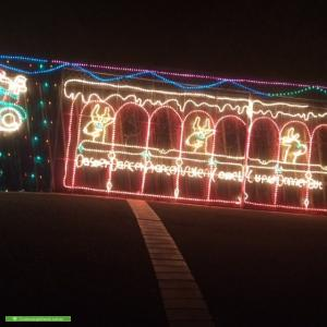 Christmas Light display at 82 Oakpark Drive, Chadstone