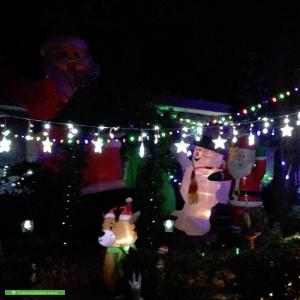 Christmas Light display at 2 Cromwell Court, Blackburn