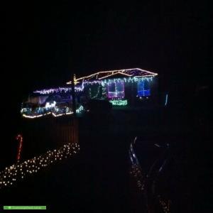 Christmas Light display at 17 Homer Avenue, Croydon South