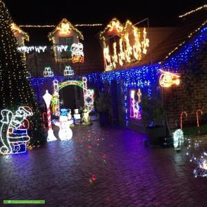 Christmas Light display at 151 Dalgetty Road, Beaumaris