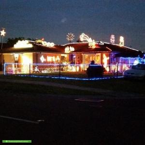 Christmas Light display at 144 Bellbridge Drive, Hoppers Crossing