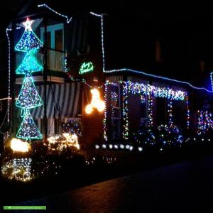Christmas Light display at 24 West Court, Williamstown