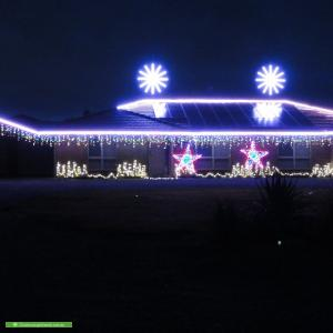 Christmas Light display at 40 Dawkins Road, Two Wells