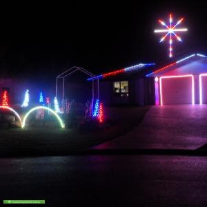 Christmas Light display at 4 Inverness St, Flinders View