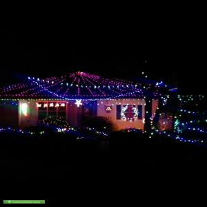 Christmas Light display at 65 Barker Avenue, South Plympton