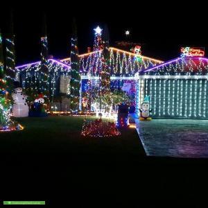Christmas Light display at 1 Burkett Terrace, Bertram