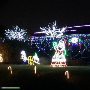 Christmas Light display at 1 Pauline Court, Frankston South