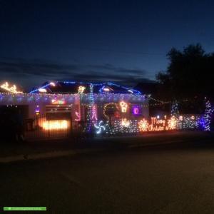 Christmas Light display at 41 Australian Avenue, Clovelly Park
