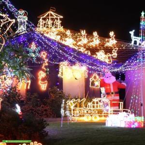Christmas Light display at 73 Bulong Avenue, Ascot