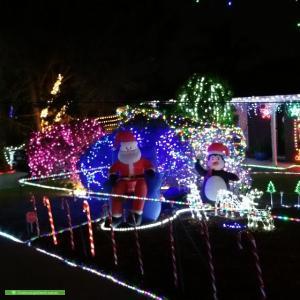 Christmas Light display at 81 Nari Drive, Sheidow Park