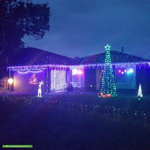 Christmas Light display at 6 Alderley Court, Narre Warren South