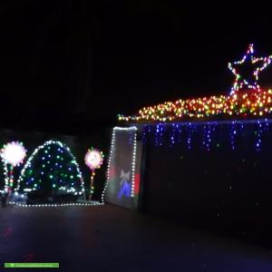 Christmas Light display at 4 Flanders Place, Alexander Heights