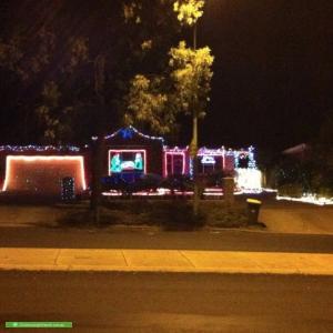 Christmas Light display at 74 Burrinjuck Crescent, Duffy