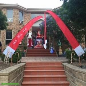 Christmas Light display at 19 Palamino Valley Court, Greenvale