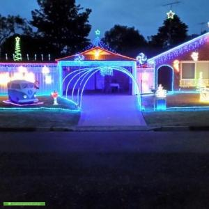 Christmas Light display at 44 Mawarra Crescent, Kellyville