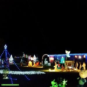 Christmas Light display at 282 Eighth Avenue, Llandilo