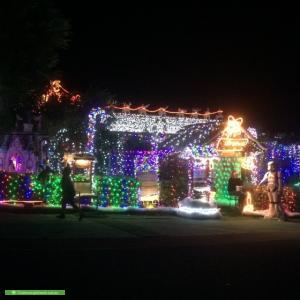Christmas Light display at 47 Bissenberger Crescent, Kambah