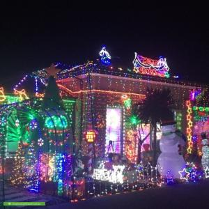 Christmas Light display at 41 WEAVERS Street, Wyndham Vale
