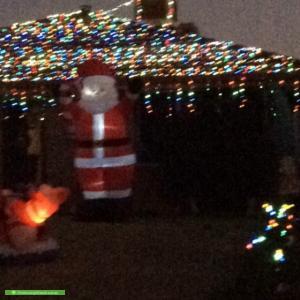 Christmas Light display at 6 Adina Way, Rockingham