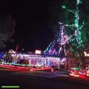 Christmas Light display at 120 Bingley Crescent, Fraser
