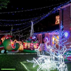 Christmas Light display at 10 Cambage Court, Davidson