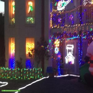 Christmas Light display at 83 Tambet Street, Bentleigh East