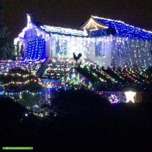 Christmas Light display at 17 Yeneda Street, Balwyn North