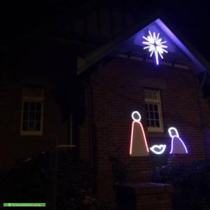 Christmas Light display at Corner Highfield Rd and Hunter Rd, East Camberwell