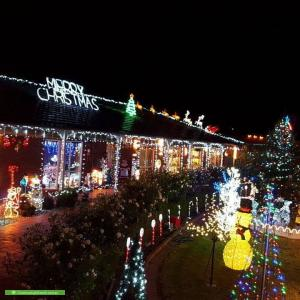Christmas Light display at 27 Glencairn Drive, Greenvale
