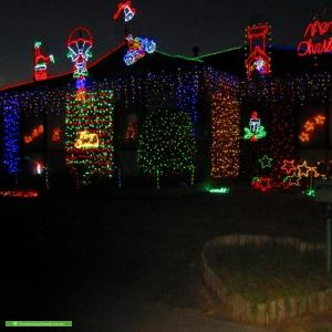 Christmas Light display at Daphne Way, Cranbourne North