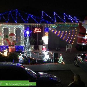 Christmas Light display at 3 Delany Lane, Craigieburn