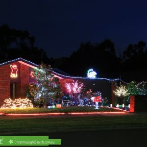Christmas Light display at 25 Calder Way, Wantirna South