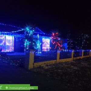 Christmas Light display at 5 Tarqui Drive, Paralowie