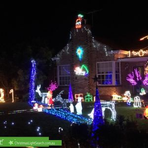 Christmas Light display at 8 Brooklyn Avenue, Glenelg North
