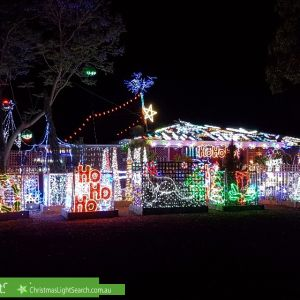 Christmas Light display at 13 Warrina Place, Armadale