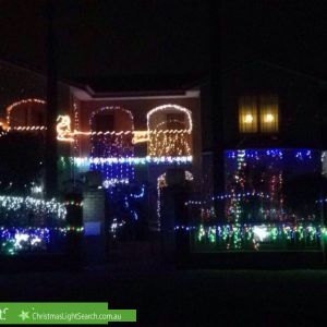 Christmas Light display at 5 Esther Street, Rivervale
