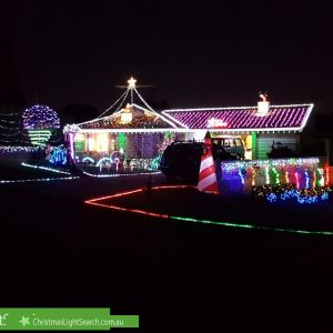 Christmas Light display at 2 Keon Place, Quakers Hill