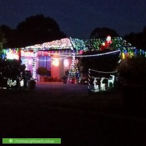 Christmas Light display at 12 Cairney Place, Paralowie