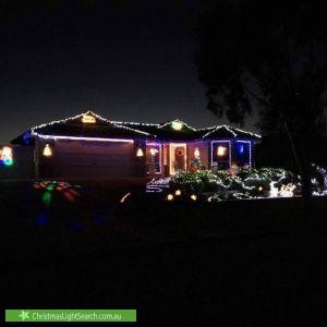 Christmas Light display at 23 Ganaway Drive, Berwick